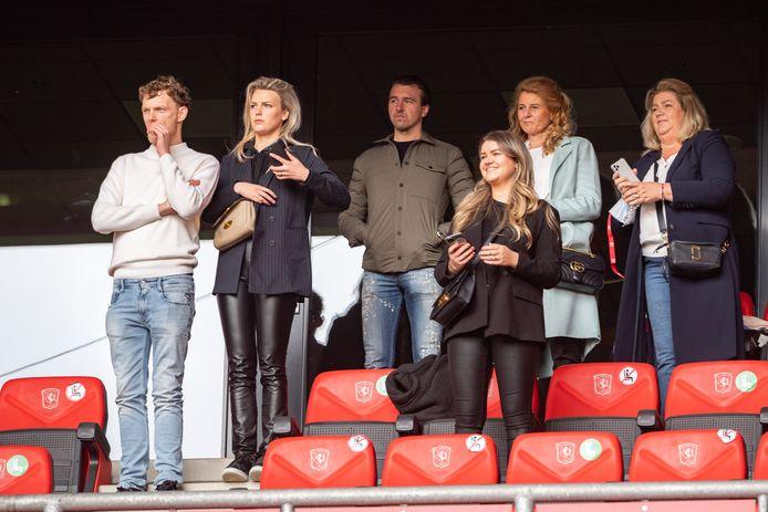 De familie van Joël Drommel was zondag aanwezig in De Grolsch Veste.