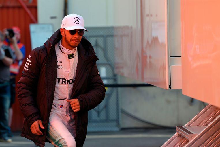 Lewis Hamilton lijkt de te kloppen favoriet om Nico Rosberg op te volgen als wereldkampioen. Beeld AFP