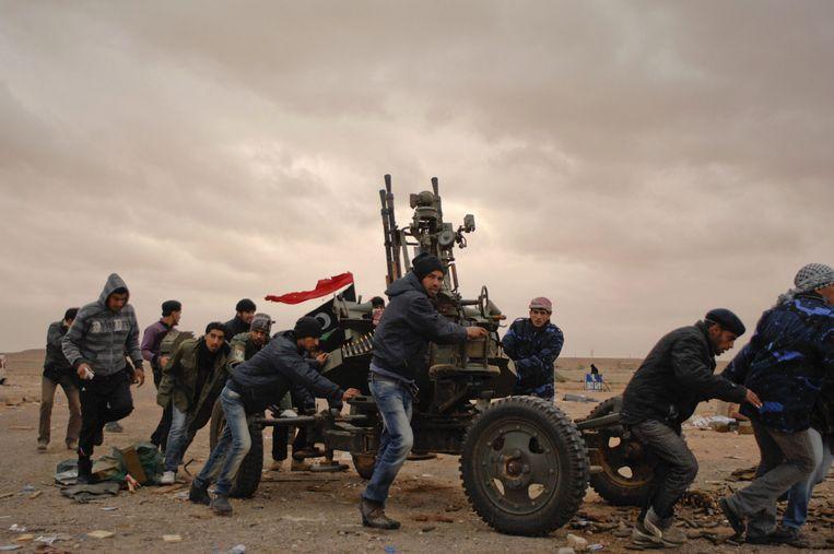 Colvin en Conroy brachten ook verslag uit van de opstand in Libië in 2011. 'De Syriërs hebben we in de steek gelaten, terwijl we Libië wel hielpen.' Beeld Paul Conroy