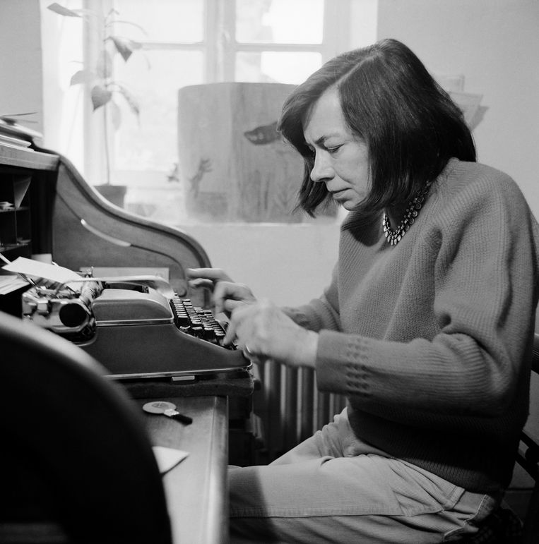 Schrijver Patricia Highsmith Beeld Sygma via Getty Images