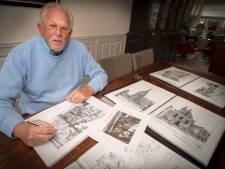 Rob (77) tekent oude stadsgezichten: 'Het plezier is mijn drijfveer'