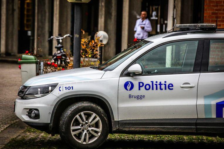 politie Brugge stockfoto's