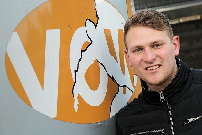 Niek van Zutphen is sinds dit seizoen