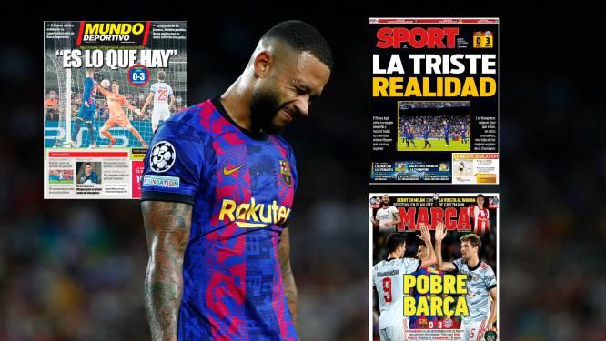"""""""La triste réalité"""", """"Pauvre Barça"""", """"On est ce qu'on est"""": les médias espagnols dépités après la prestation de FC Barcelone"""