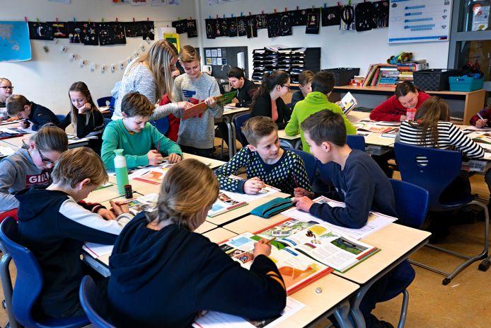 Groep 8 van basisschool De Dassenburcht in Nuenen.
