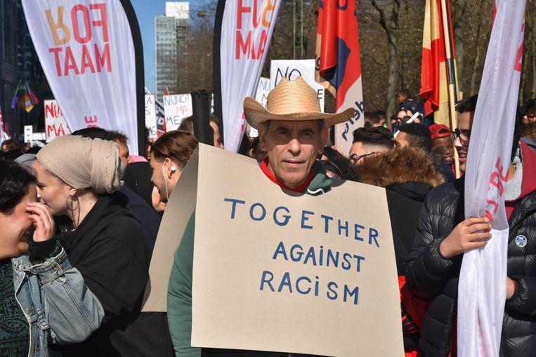 Manifestatie tegen rascisme in Brussel