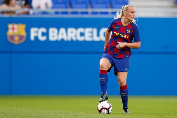 Stefanie Van der Gragt in actie namens FC Barcelona.