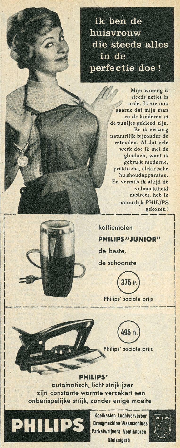 1958, toen je voor 495 frank een onberispelijke strijk had.  Beeld rv Collectie Huis Van Alijn