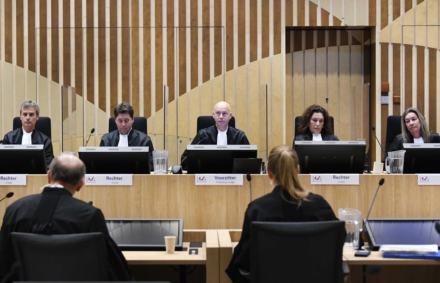 De rechtbank tijdens een eerdere zitting in het MH17-proces.