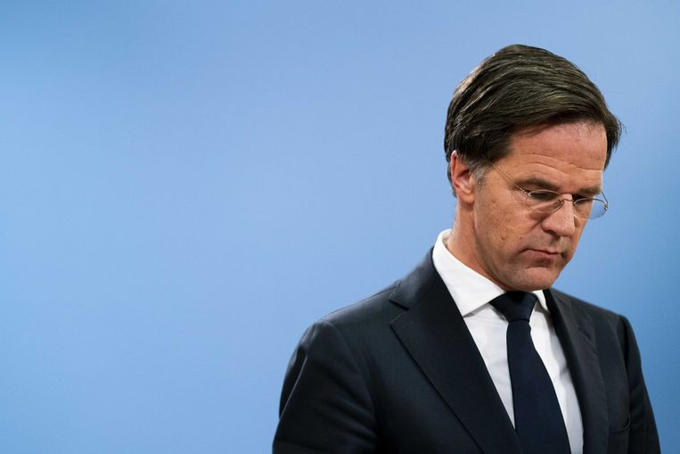 Ontslagnemend Nederlands premier Mark Rutte. Beeld ANP