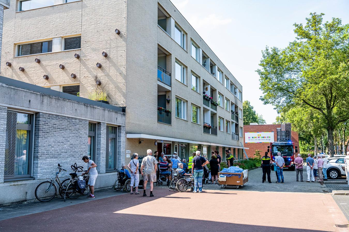 Brand in woon-zorgcentrum Satijnhof Tilburg.