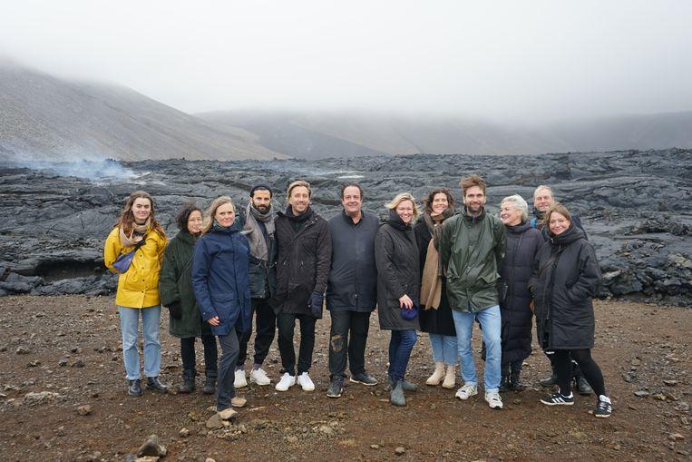 De Nederlandse delegatie op IJsland, met als zesde van links Ido Abram,  directeur See NL. Beeld Shariff Korver