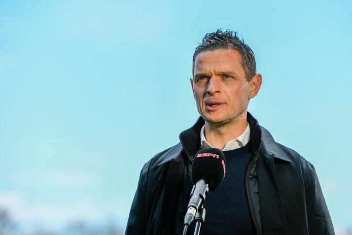 Trainer Rogier Meijer van NEC.   NEC coach Rogier Meijer before the match.
