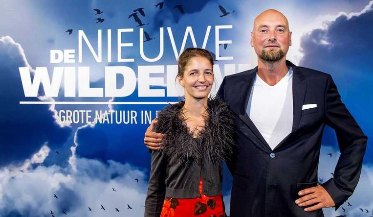 Regisseur en cameraman Ruben Smit (R) met zijn partner. Beeld anp