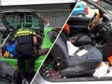 Politie slaat mannen in de boeien om afgeschoten confettikanonnen
