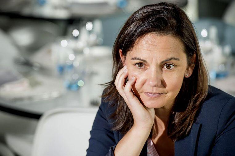 Dominique Monami: 'Toptennis gaat gepaard met intense emoties. Zelfs de emotie bij de geboorte van een kind kunnen daar niet tegen op'. Beeld Thomas Sweertvaegher