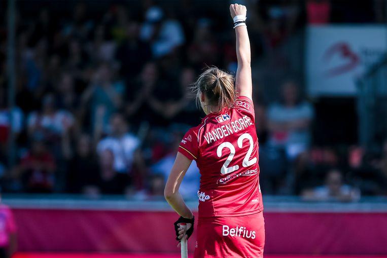 Stephanie Vanden Borre legde met een strafcorner de eindstand vast (Archief).  Beeld Tomas Sisk / Photo News