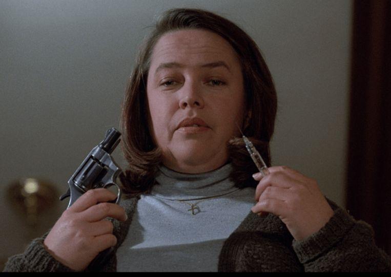 Kathy Bates in Misery van Rob Reiner Beeld
