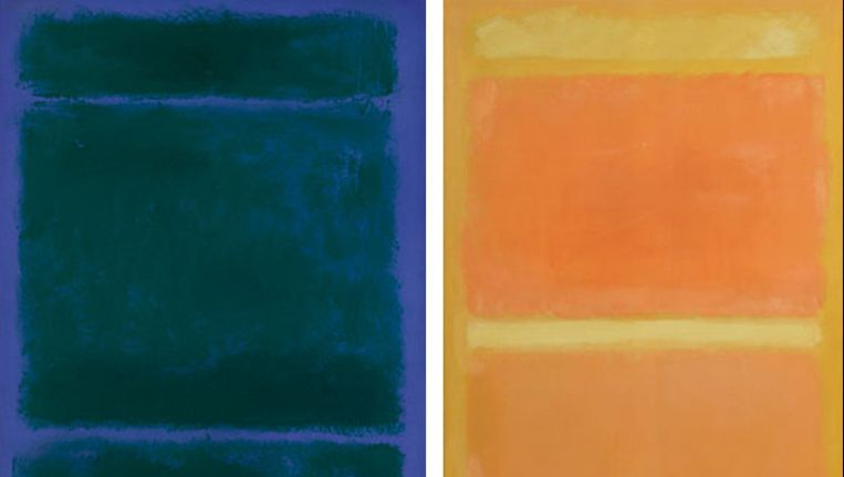 Links: 'Untitled' (1970); rechts: 'Untitled' (1955) Beeld Sotheby's