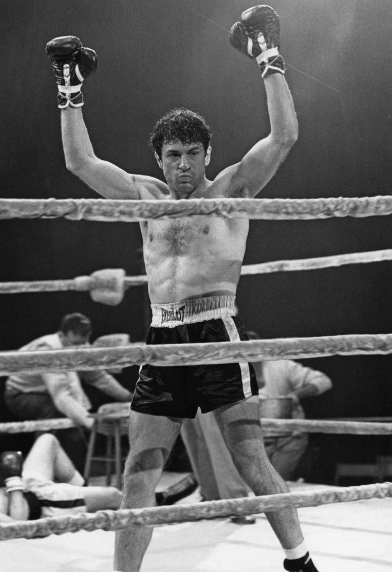 Robert De Niro als bokser Jake LaMotta in Raging Bull (1980).  Beeld Getty