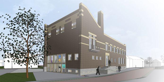 Een impressiebeeld van de toekomstige invulling van het oude raadhuis van Schijndel. Hierin komen onder meer de bibliotheek en de kunstcollectie van Schijndel.