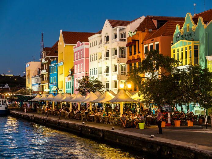 Willemstad op Curaçao.