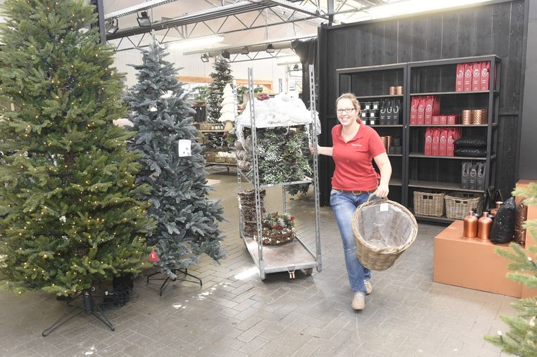 De medewerkers bij Van Gastel zijn al volop in kerststemming.