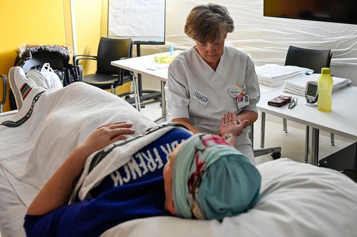 Kankerpatiënten konden zich goed laten verwennen tijdens relaxatieworkshops.
