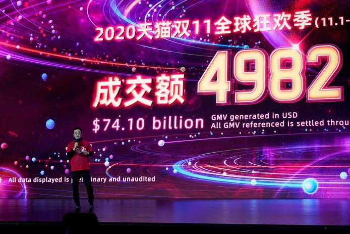 Alibaba verkocht vandaag tijdens Singles Day voor een recordbedrag aan spullen. Hier wordt het bedrag bekendgemaakt.