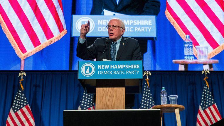 Bernie Sanders, een combinatie van Robin Hood en priester Daens, heeft alle voordelen van de outsider. Beeld AFP