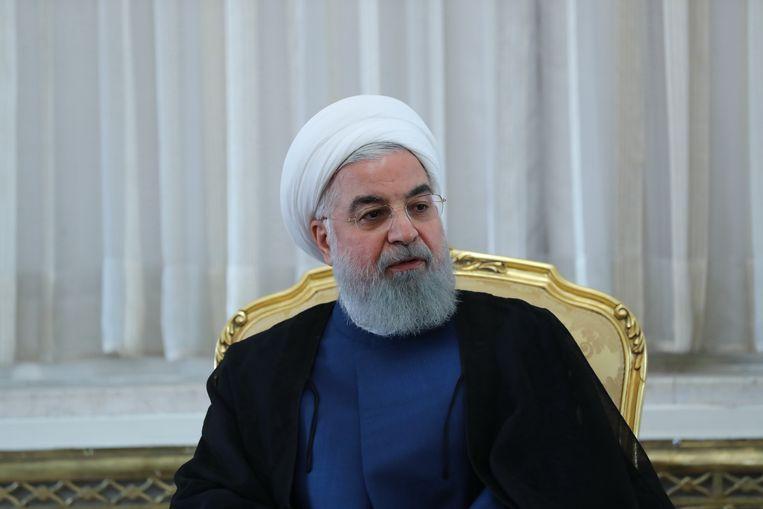 Hassan Rohani. Beeld AFP