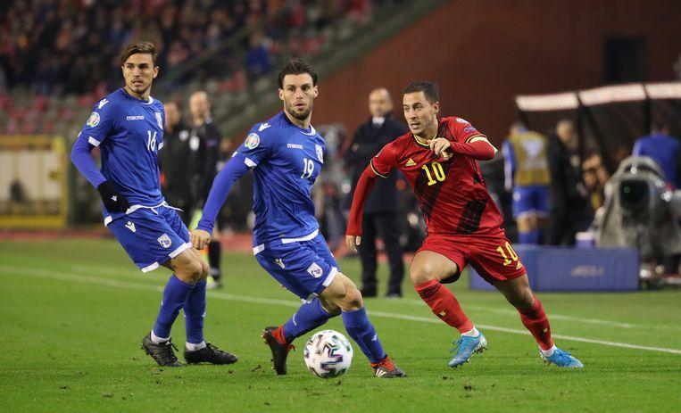 'Het kan snel keren voor Eden Hazard. In Madrid ligt er veel druk op hem, bij de Duivels komt hij terecht in een vertrouwde omgeving.' Beeld BELGAIMAGE