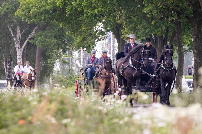 Beeld van de 'belevingsdag' in mei in het gebied waar Wijkevoort is gepland. Een die dag gestarte petitie heeft inmiddels 3200 handtekeningen opgeleverd.
