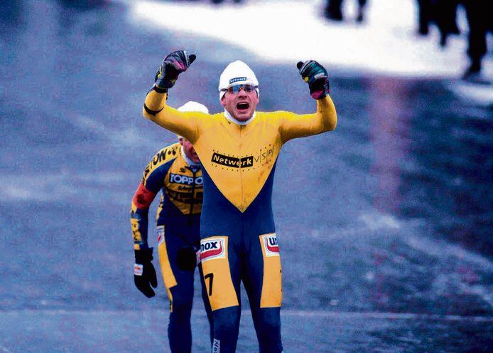 Henk Angenent is de winnaar van de laatste Elfstedentocht, in 1997.