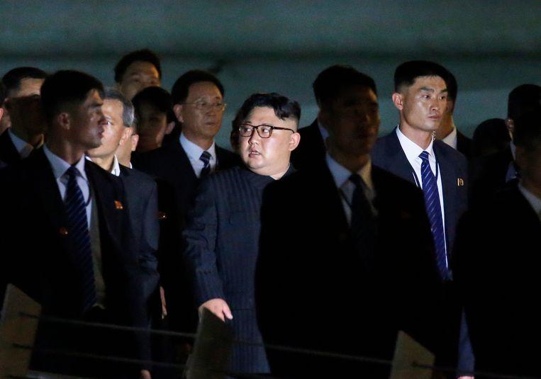 Kim Jong-un in Singapore. Beeld EPA