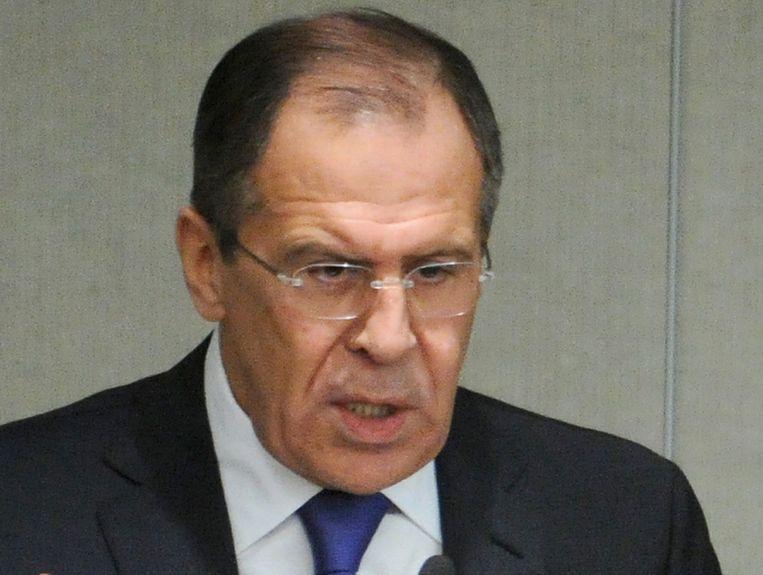 Sergei Lavrov, de Russische minister van Buitenlandse Zaken. Beeld null