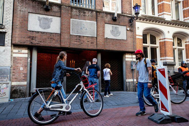 Exterieur van het gebouw van de Amsterdamse Studenten Corps.  Beeld Hollandse Hoogte /  ANP