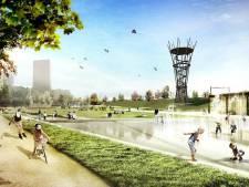 Uitzichttoren Spoorpark wordt zo hoog als een flat: abseilen kan, tokkelbaan volgt misschien