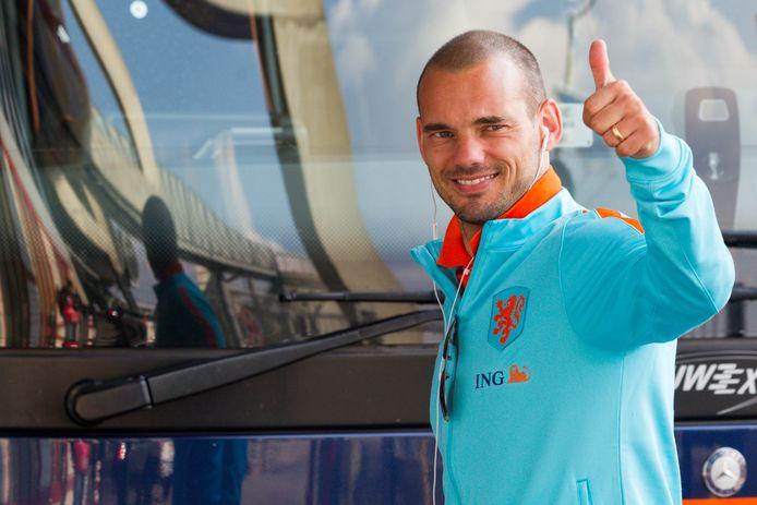 Wesley Sneijder in zijn tijd als international.