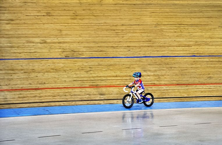Baanwielrennen, Training Jeugd Alcmaria Victrix, Alkmaar Beeld Klaas Jan van der Weij