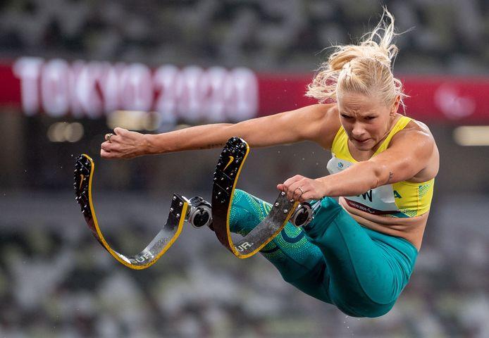 De Australische atlete Vanessa Low op de Paralympische Spelen in Tokio.