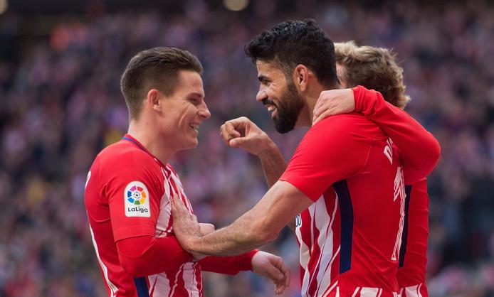 Kevin Gameiro en Diego Costa (rechts).