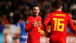 Jubilaris Hazard aan het feest: Rode Duivels kennen niet de minste moeite met Cyprus