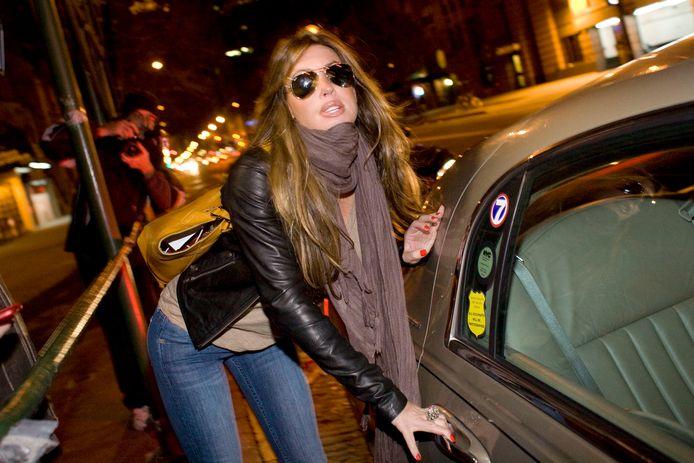 Rachel Uchitel toen het schandaal losbrak in 2009.