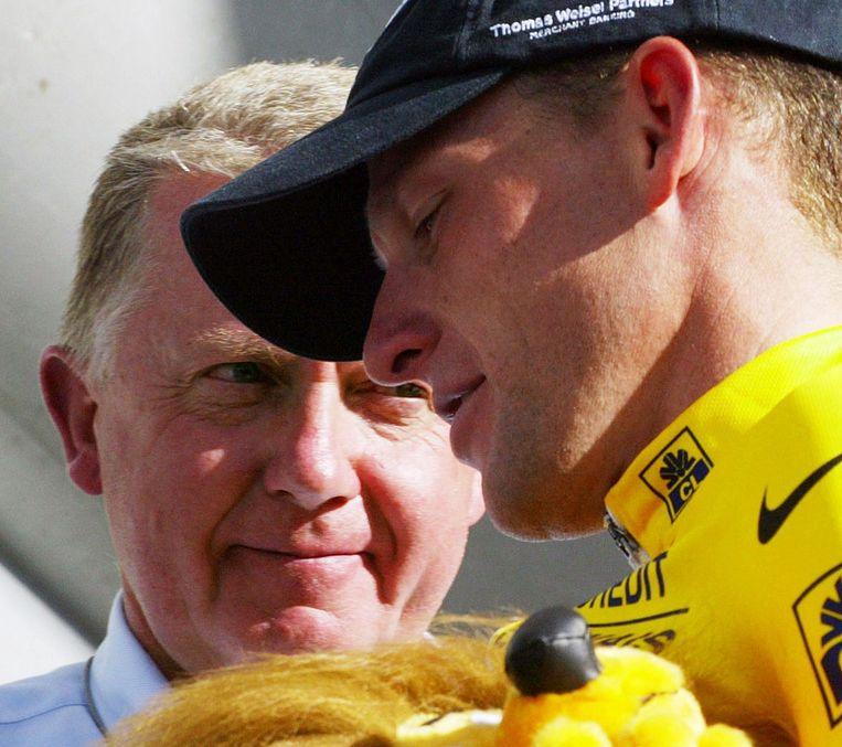 Hein Verbruggen was een van de bezielers achter de Pro Tour en kon het goed vinden met Lance Armstrong. Beeld anp