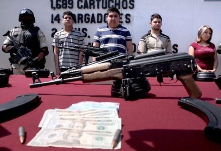 Vier gearresteerde kidnappers, die werkten voor de drugsbaron 'El Teo' (archieffoto, mei 2009). ANP Beeld