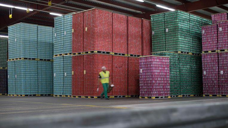Een fabriek van bottelaar Refresco in Maarheze. Beeld getty