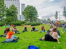 Nieuwe studenten luiden jaar in met picknick: niet echt bruisend, wél coronaproof