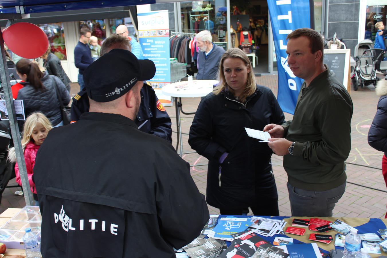 De politie had niet te klagen over aanloop op de veiligheidsmarkt in Sleeuwijk.