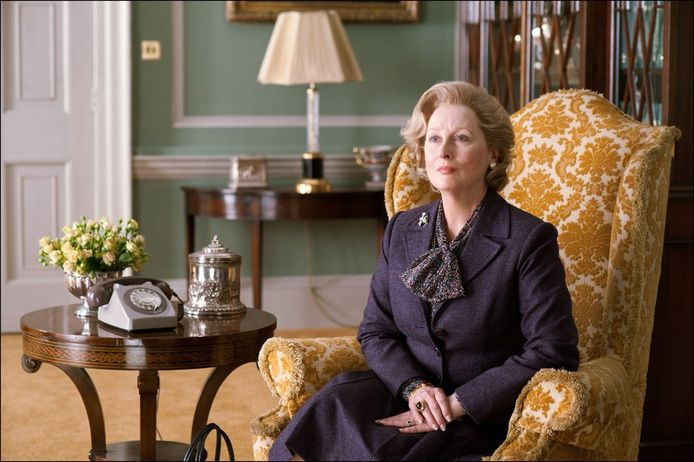 Meryl Streep als Margaret Thatcher.